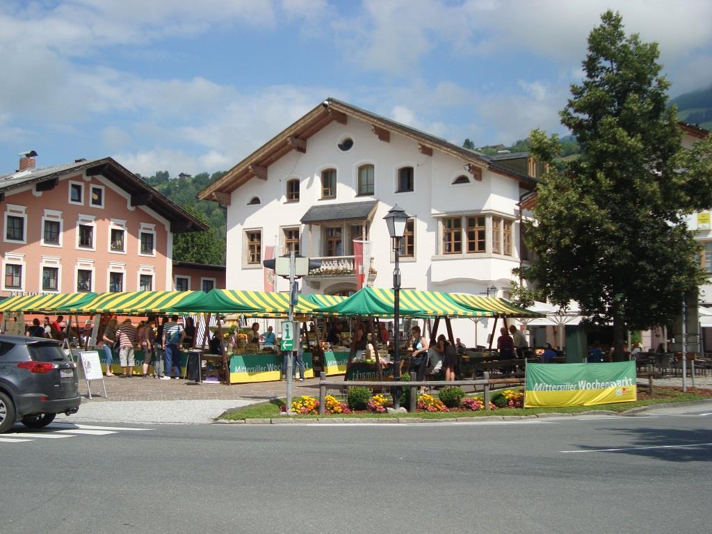 De markt in Mittersill - vooral bretzels en gerookt vlees