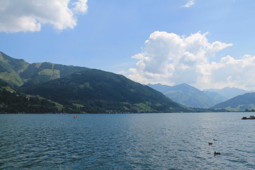 Het mooie meer in Zell am See