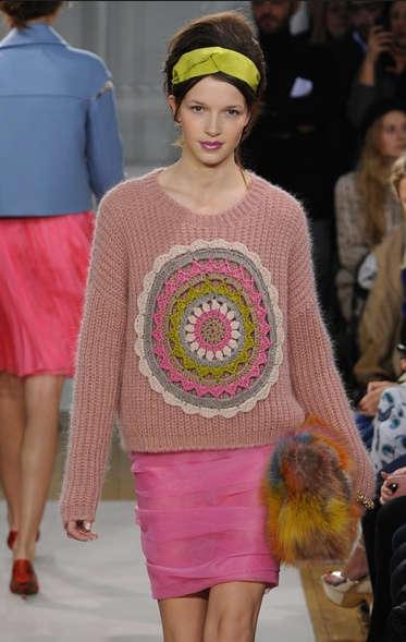 Moschino crochet sweater