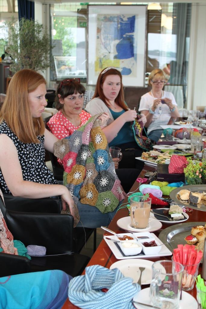 Crochet high tea