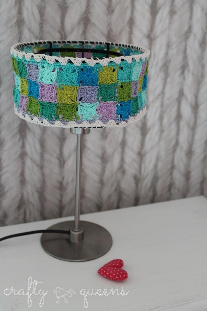 Granny Collage Lampshade Free Pattern New Leaf Designs