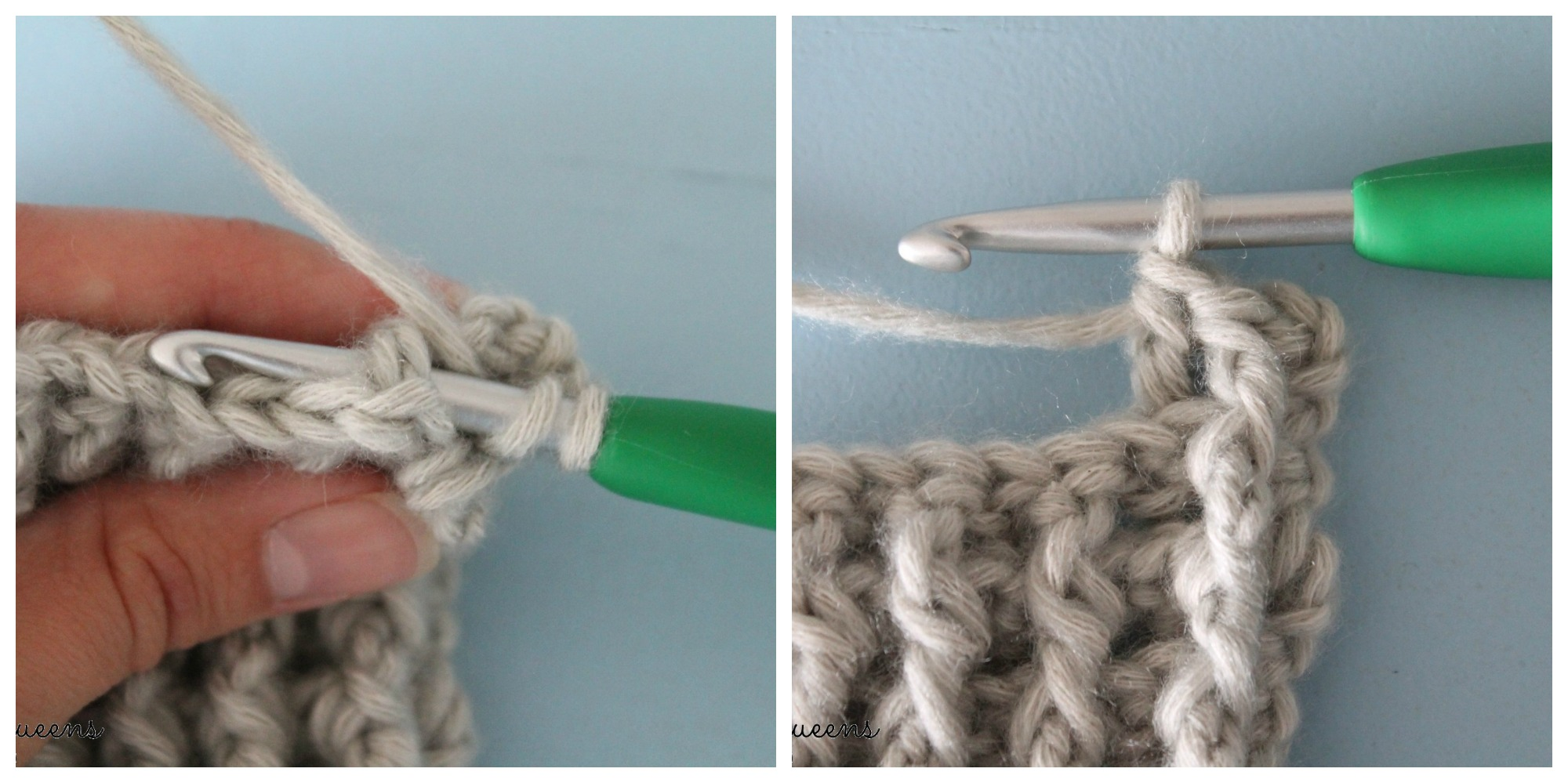 Reliëfstokje Achterlangs - Back Post Double Crochet