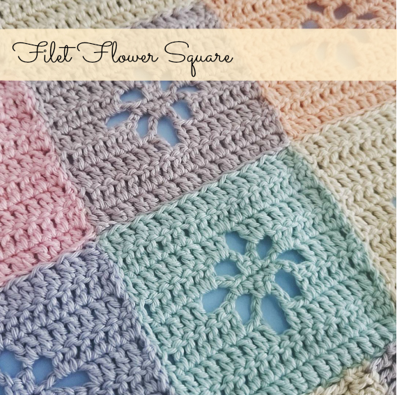 Filet Flower Square Free Pattern New Leaf Designs