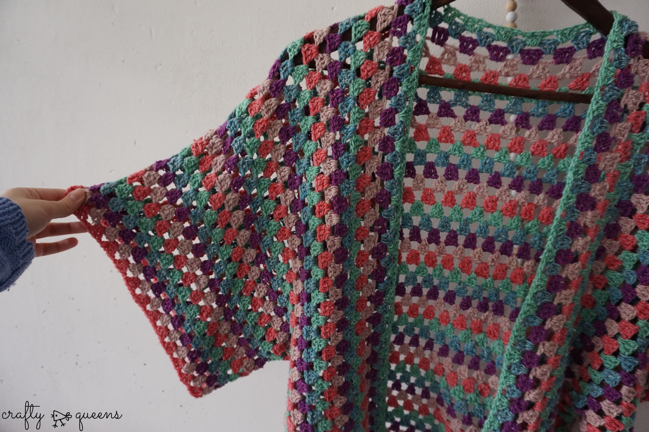 detailed view crochet cardigan