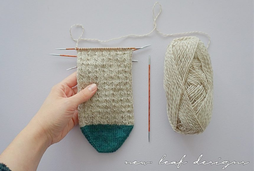 simple toe up sock knitting pattern