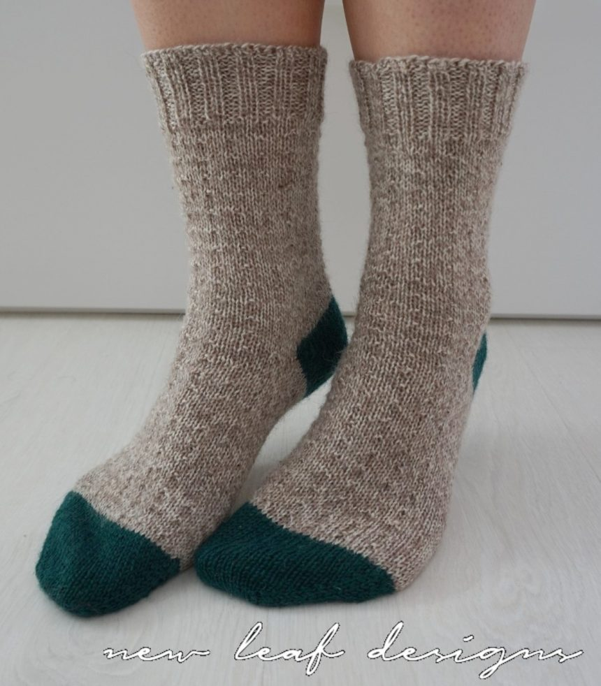 simple toe up socks finished pair