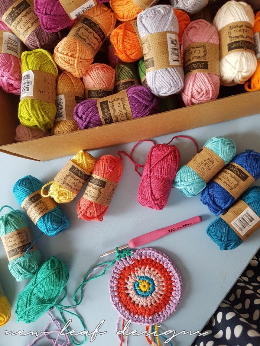 Rainbow Sprinkles Purse Free Crochet Pattern New Leaf Designs