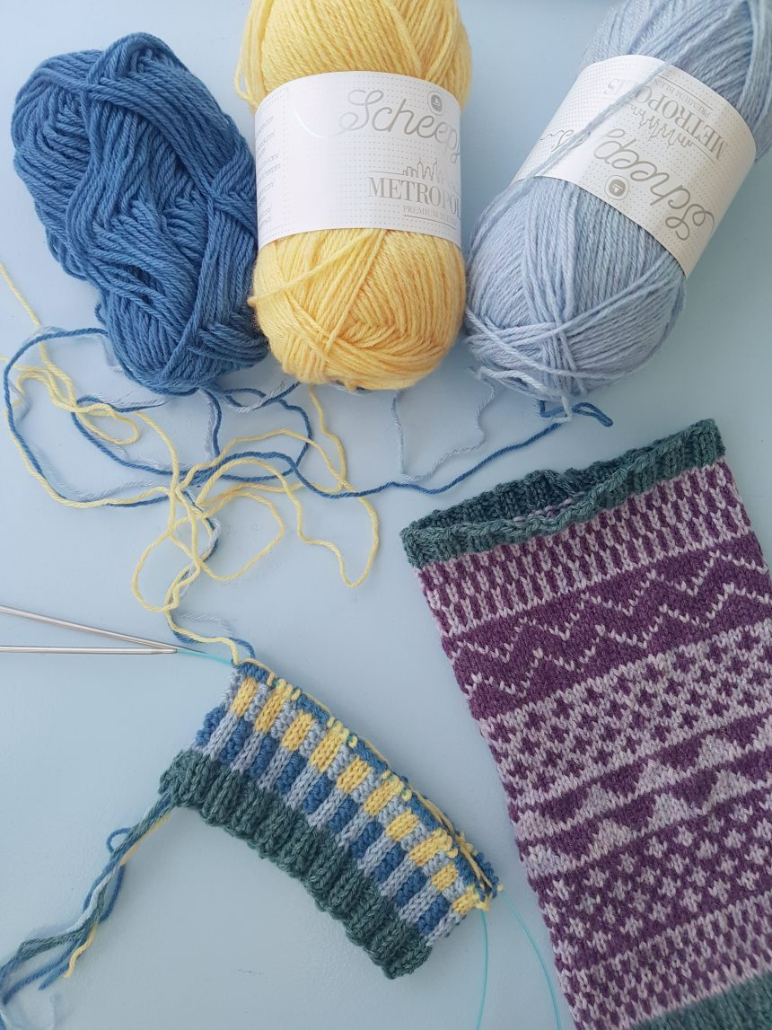 how to knit colourwork