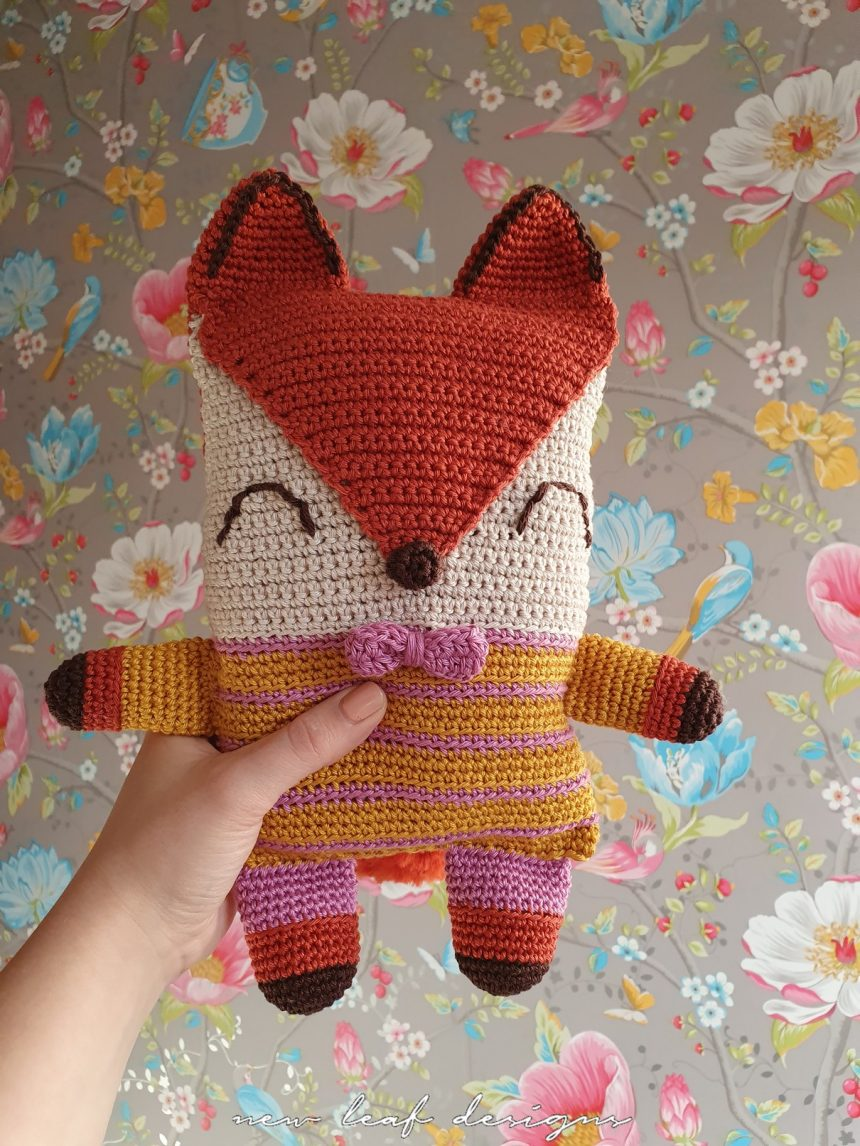friendly fox plushy front view