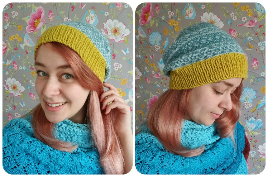striped and stranded hat pattern