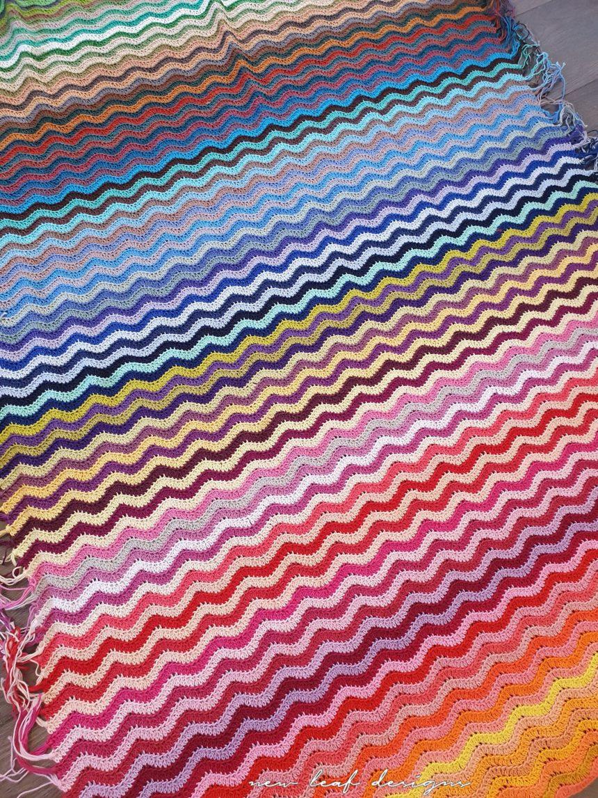 rainbow sea waves blanket spread out on floor