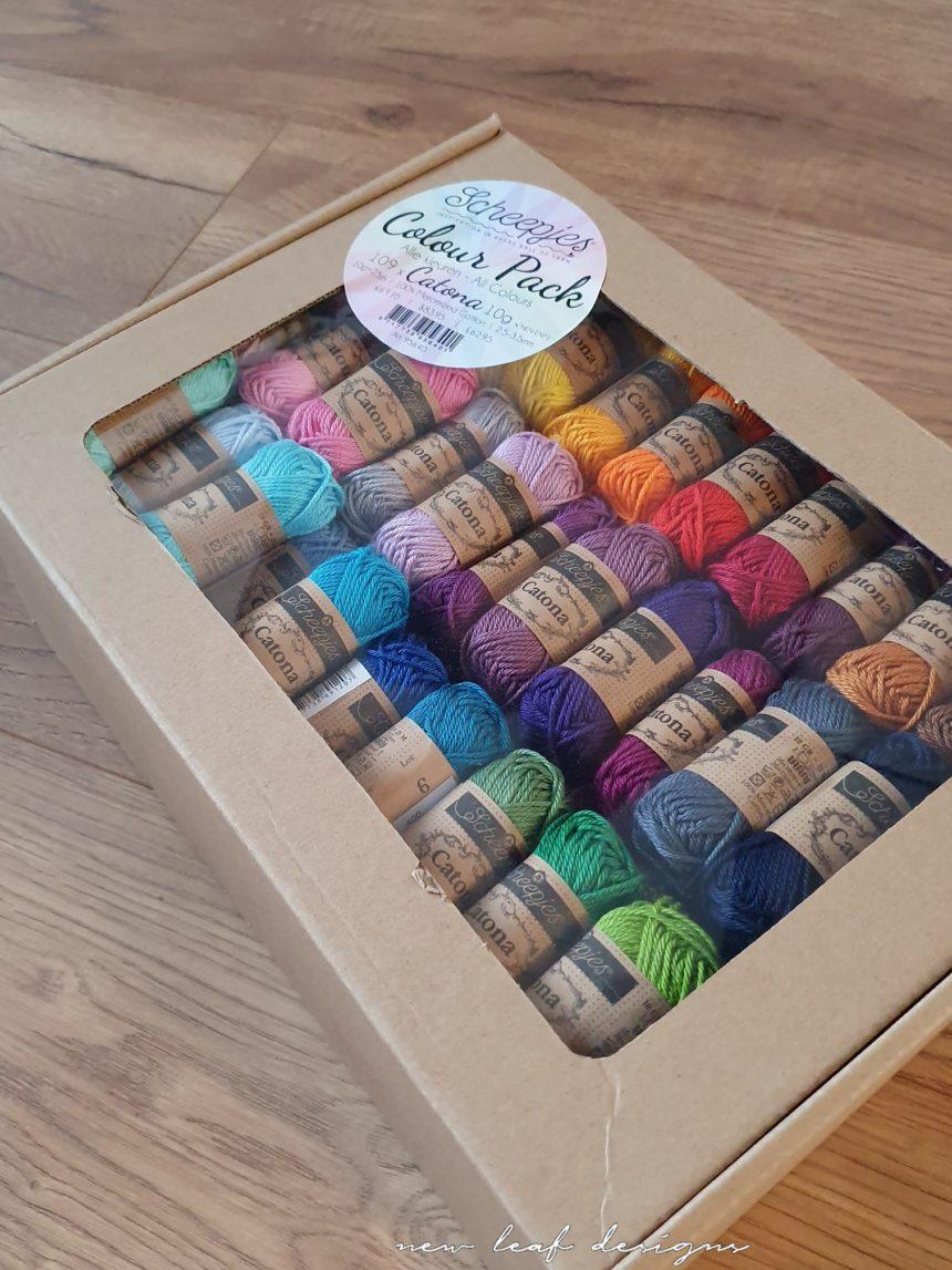 Scheepjes Catona Colour Pack in box