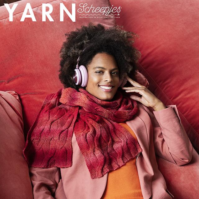 scheepjes yarn bookazine twisted roots scarf