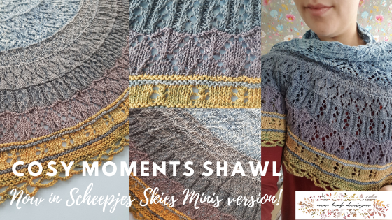 Cosy moments shawl minis version by New Leaf Designs