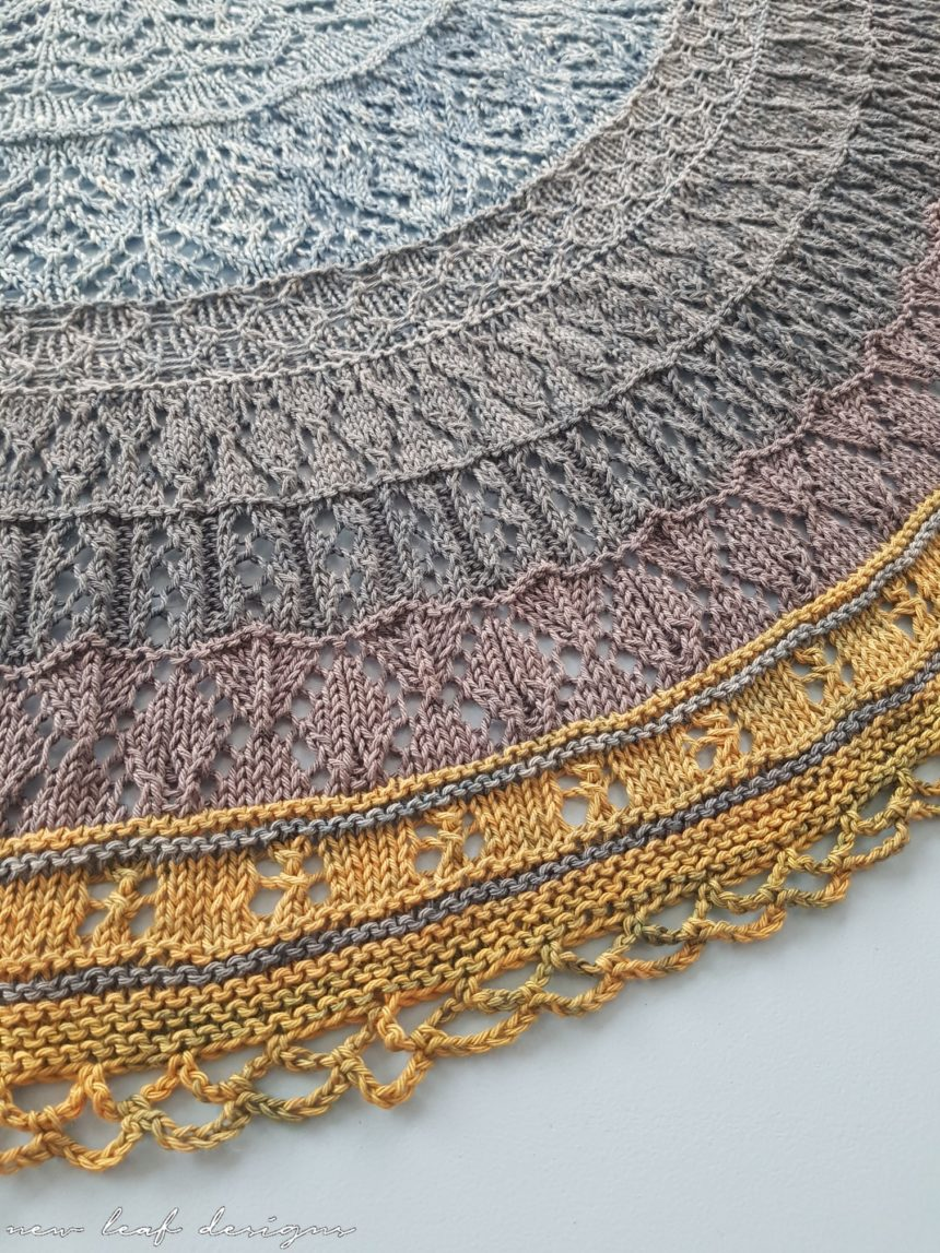 Cosy Moments Shawl lace knitting pattern by New Leaf Designs