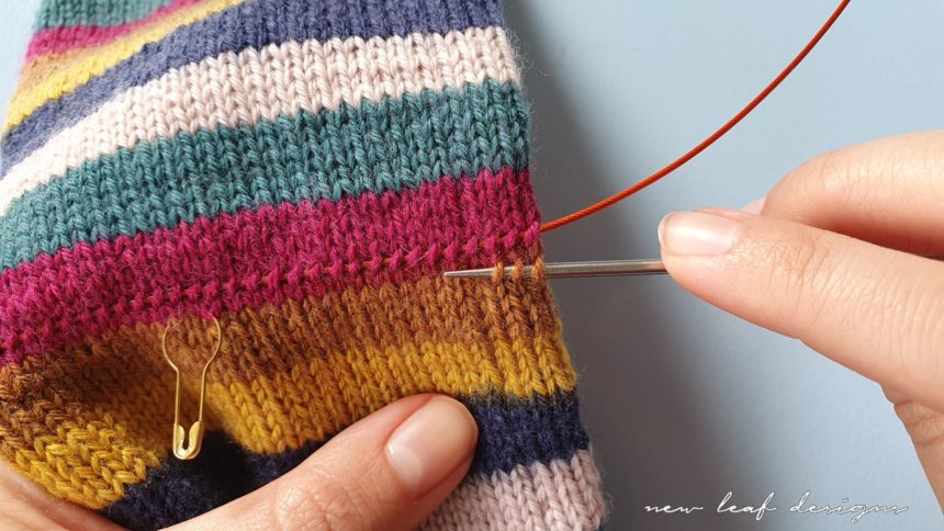 picking up stitches for the afterthought heel